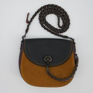 Coach 1941 Glove Tanned Leather & Suede Saddle Bag